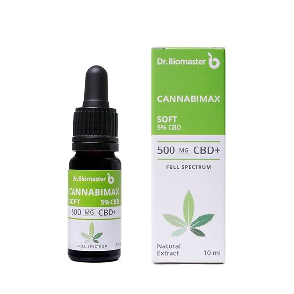 Cannabimax Soft 500mg, full spectrum CBD в масло от конопено семе